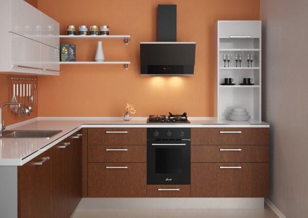 Пример узкой духовки