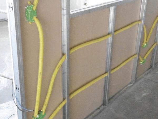 Расположение кабелей во внутренней части каркаса