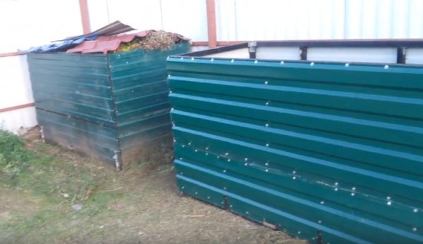 Ящик для компоста из металлопрофиля