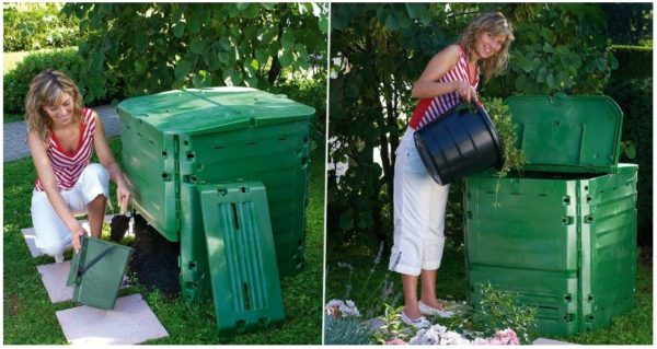 Пластиковый контейнер для получения компоста