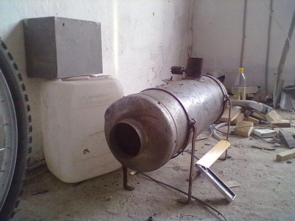 Емкость из алюминия в качестве газовой пушки. Преимущество такой конструкции - высокий коэффициент теплоотдачи. Но долговечность такого варианта - спорная