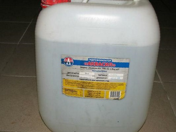 гидрофобизатор для бетона аквасил