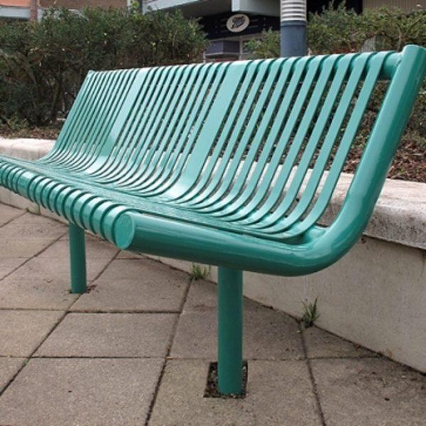 Металлическая стационарная скамейка