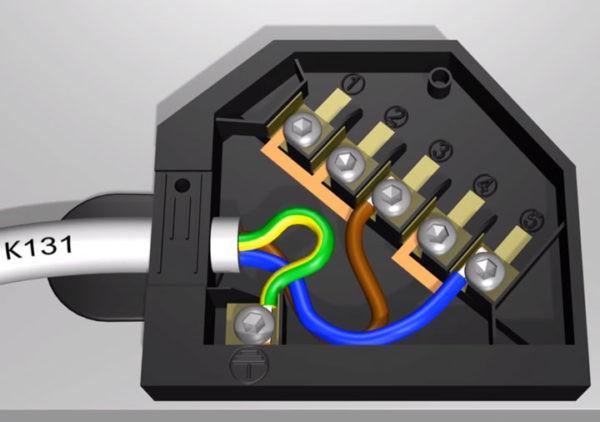 Однофазное подключение плит Bosch