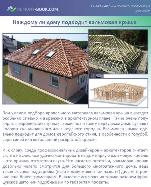 Каждому ли дому подходит вальмовая крыша