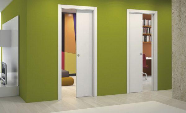 Межкомнатные одностворчатые раздвижные двери