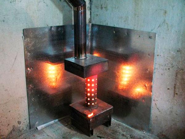 Изготовление печей на отработанном масле