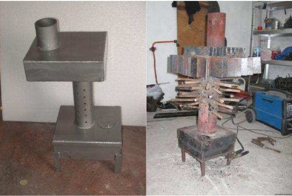 Стандартная и модернизированная модель печи с наваренными ребрами и трубами