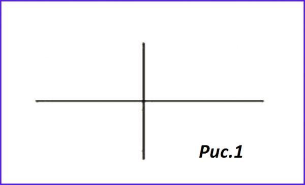 Обозначение простого пересечения проводников