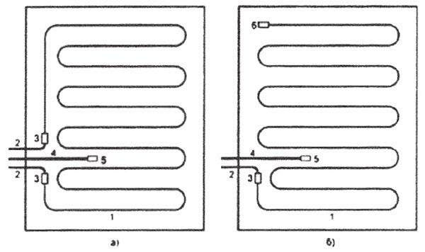 Схемы укладки кабелей